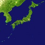 satellite photo of Japan