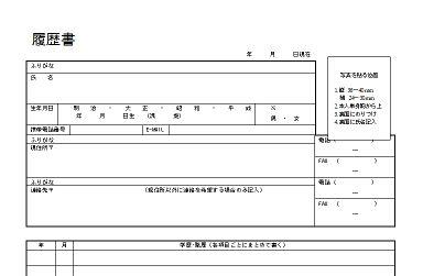 A Japanese CV