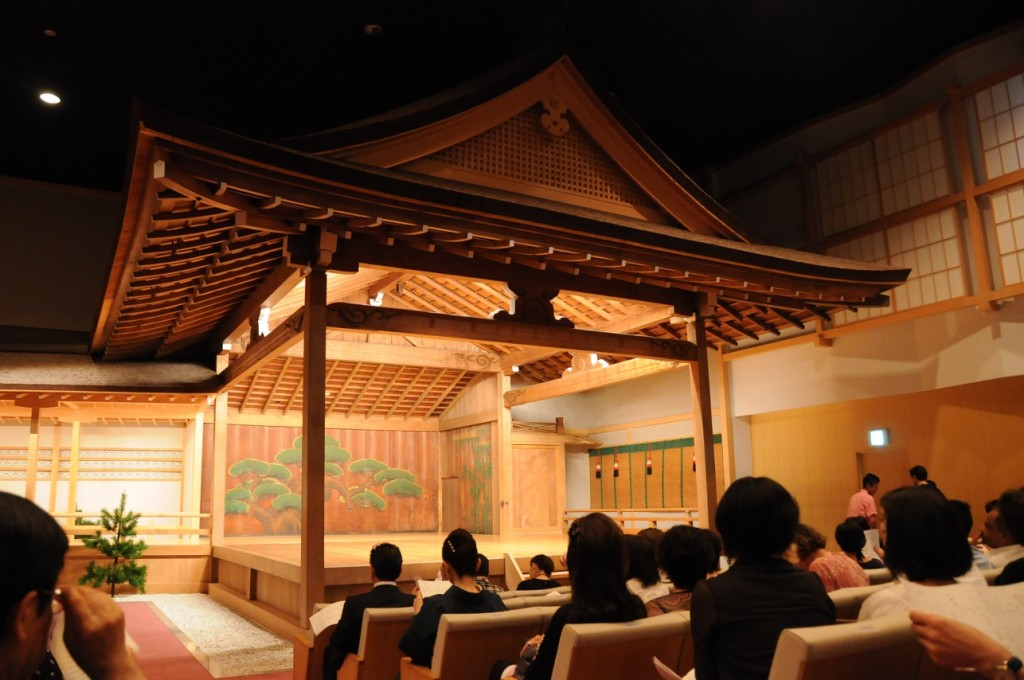 a traditional noh stage