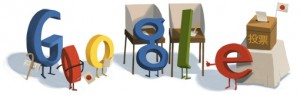 google doodle image for the Japanese elections
