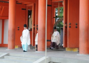 priests walking through the chinowa