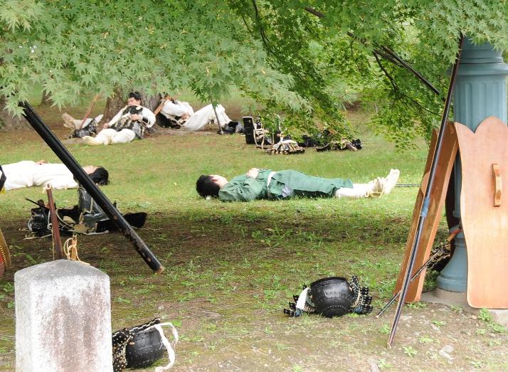 "Before the ""battle"" of Jidai Matsuri"