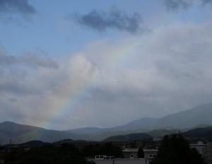 rainbow over Kyoto, taken from my window