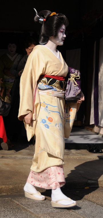 a mature geisha - note the hairstyle!
