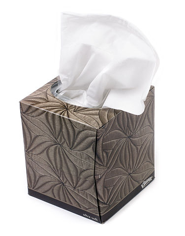 a box of kleenex tissues