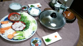 Ingredients for Nabe