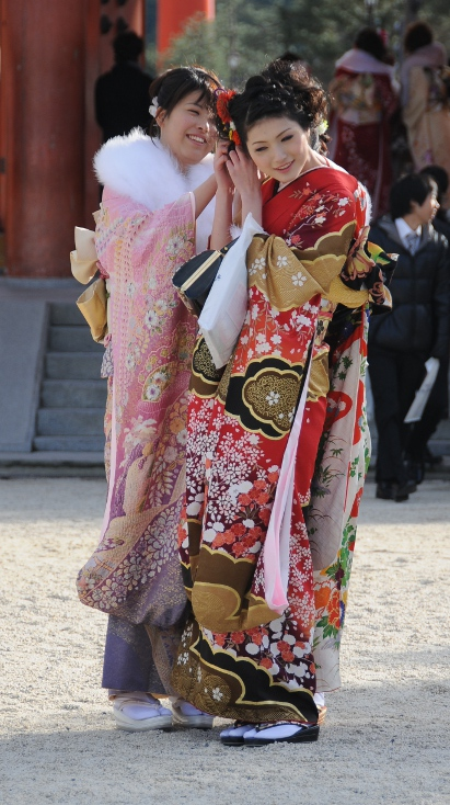 two girls in furisode