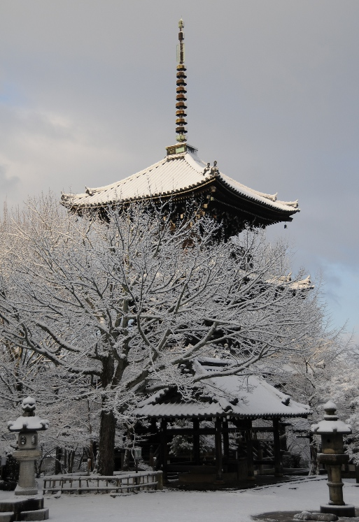 Pagoda in the snow