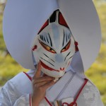 shinto bride with fox mask