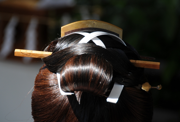 Detail of Japanese hairstyle