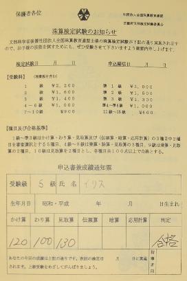 5th kyu results