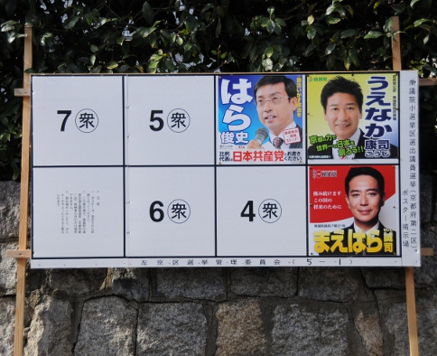 Local posters of people running in the election.