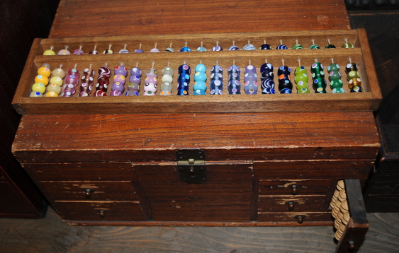 soroban with glass beads from Okinawa
