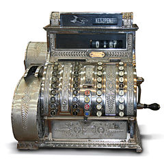 Antique Cash Register from Hungary