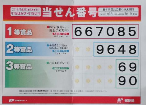 nengajo lottery winning numbers