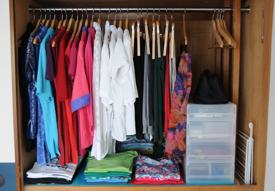 My colour sorted closet