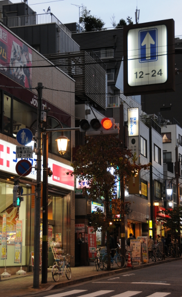 Kagurazaka main street by night