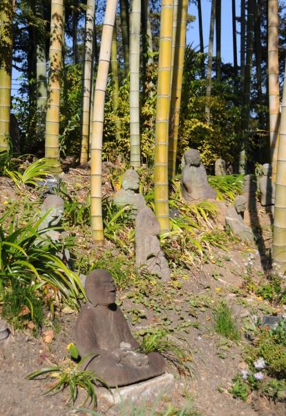 Meditating Buddhas in Hakusasonso.