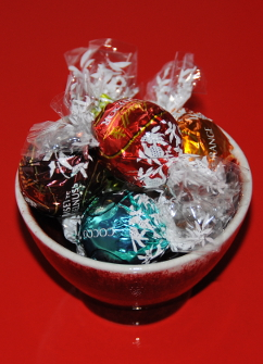 selection of lindor chocolate