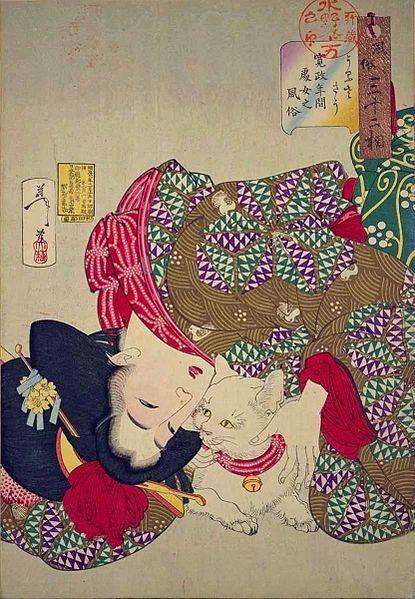 Yoshitoshi woodblock print