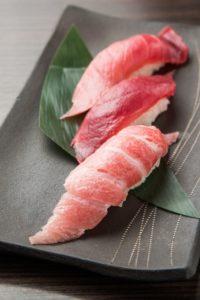 3 types of maguro sushi