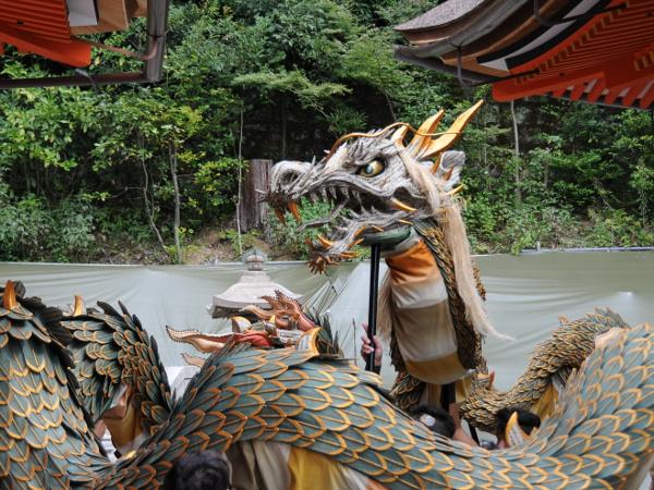 The blue dragon of Kiyomizu-dera