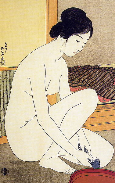Bathing by Hashiguchi Goyo