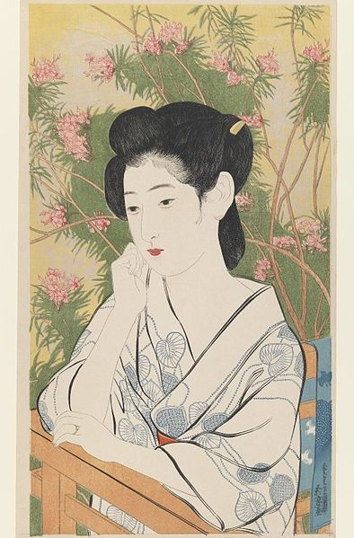 "Hashiguchi Goyo ""Woman at Hot Spring"""