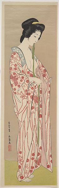"""Hashiguchi Goyo """"Woman in Nagajuban"""""""