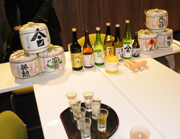 Seven types of Sake during the testing