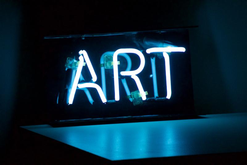 neon sign spelling ART