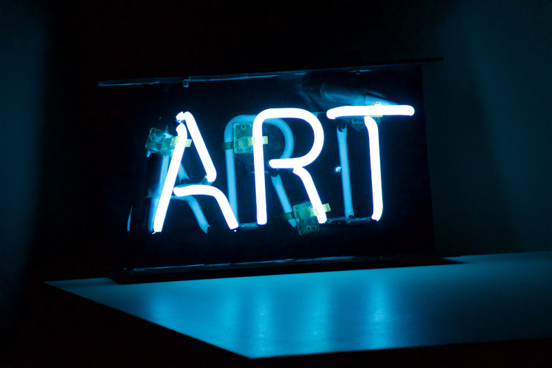 Neon Sign Spelling ART