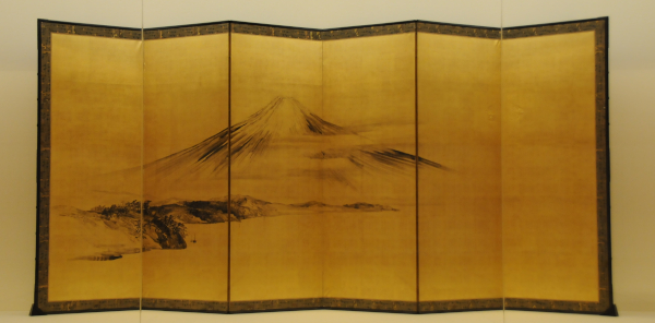 Golden Screen with Mt. Fuji by Shibata Gito