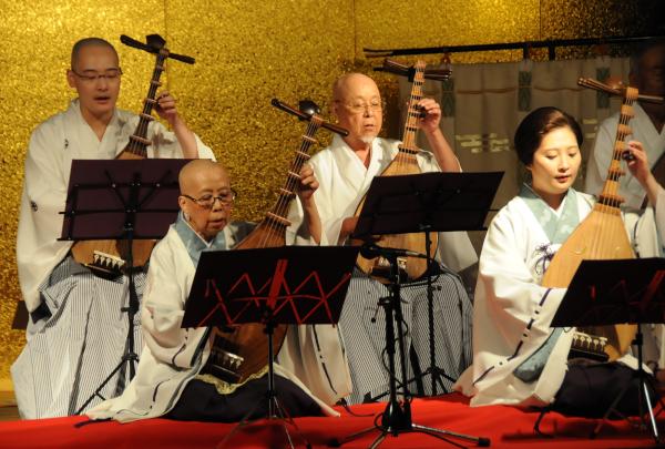 biwa musicians