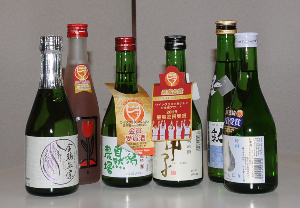 6 bottles of sake