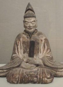 Wooden Statue of Sugawara-no-Michizane.