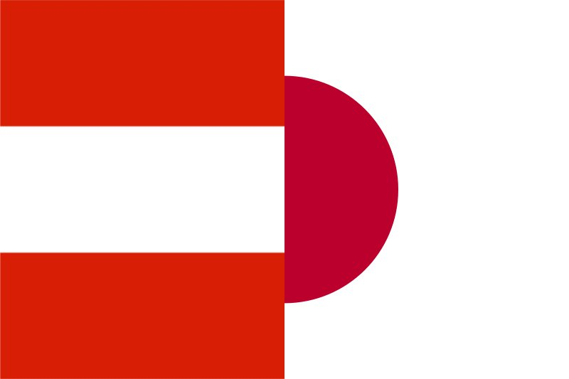 Flags of Austria and Japan