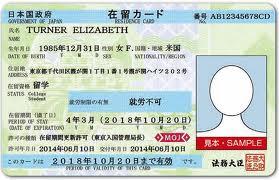 Sample of a Zairyu Card