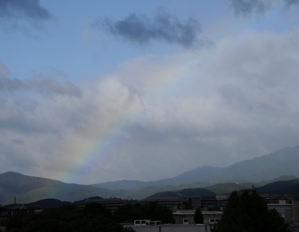 rainbow over Kyoto, taken from my window