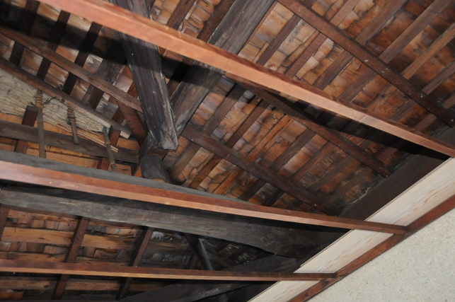The beams of the roof