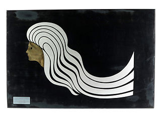 stylised drawing of woman with long hair