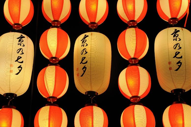 Kyo-no-Tanabata lamps at the entrance