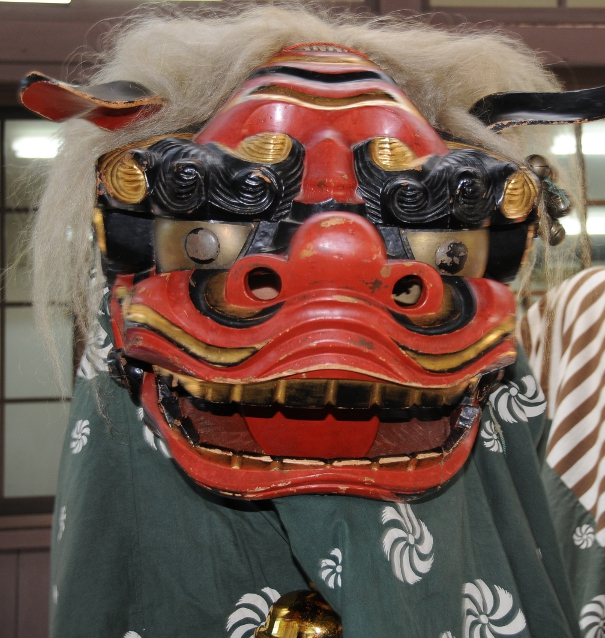 mask of a Japanese lion