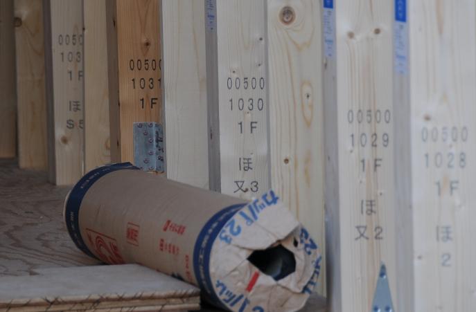 Numbers on wood beams