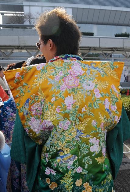 Young man in flowery haori