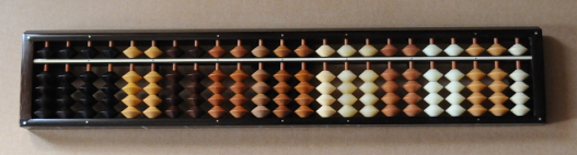 Soroban with wood samples