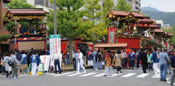 All floats of Otsu Matsuri