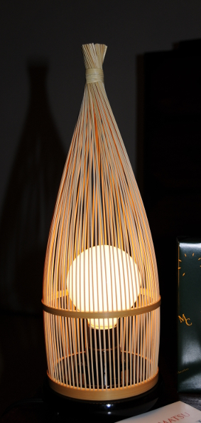 Bedside lamp made from bamboo