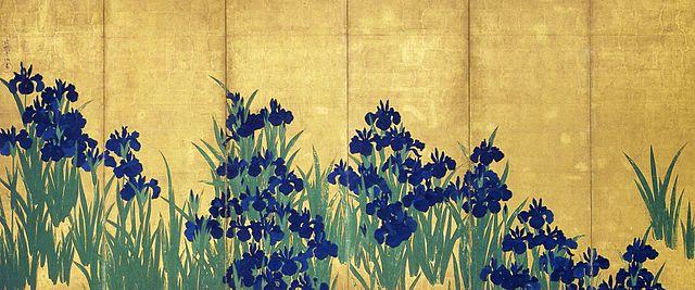 Irises by Korin, left screen