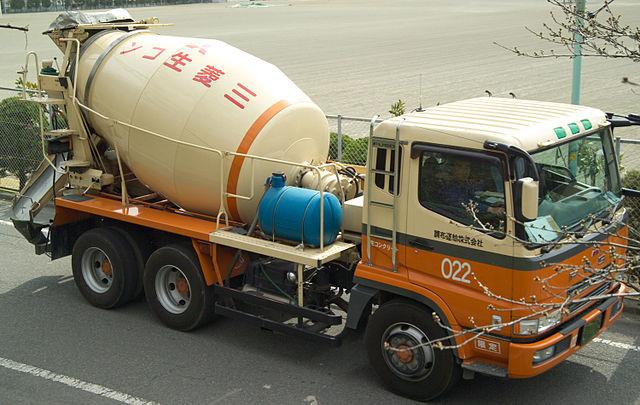 Cement Mixer in Japan.